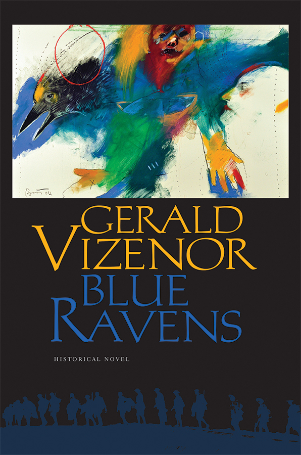 "Cover of Gerald Vizenor's ""Blue Ravens"""
