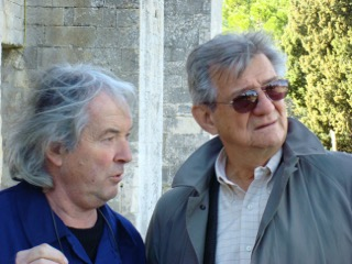 Painter Pierre Cayol and Gerald Vizenor, France 2009.