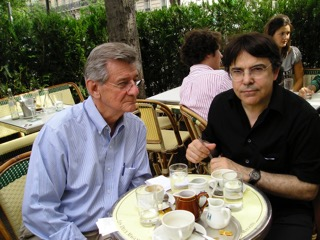 With Olivier Delavault, publisher of Vizenor's books in French, 2005, Paris.