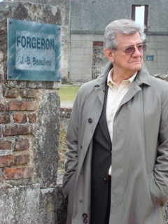 Gerald Vizenor at Oradour-sur-Glane, 2005, Southern France. Nazi soldiers massacred the residents of the entire village and destroyed the buildings. Jean-Baptiste Beaulieu, the forger or smith in the village, was murdered by the Nazis.