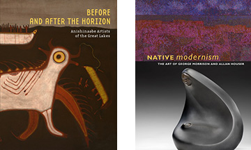 These exhibit catalog published by NMAI feature writing on George Morrison by Gerald Vizenor.